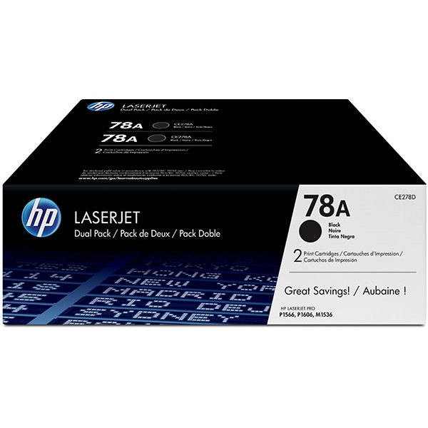 CE278D Toner Cartridge - HP Genuine OEM (Multipack)