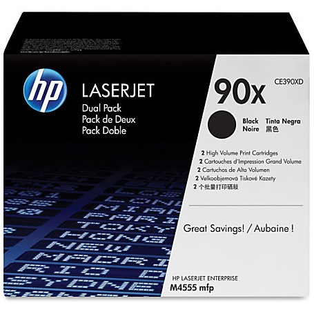 CE390XD Toner Cartridge - HP Genuine OEM (Multipack)