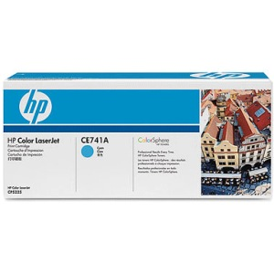 CE741A Toner Cartridge - HP Genuine OEM (Cyan)