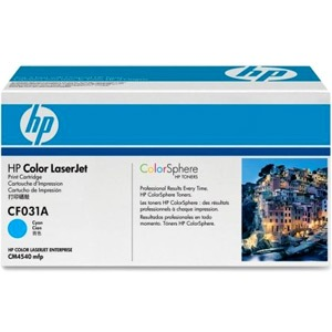 CF031A Toner Cartridge - HP Genuine OEM (Cyan)