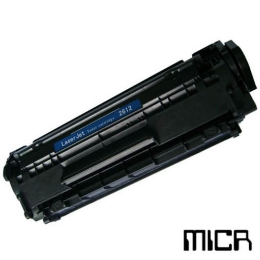 Remanufactured HP Q2612A-micr Black MICR Toner Cartridge