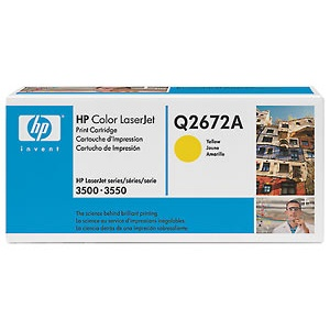 Q2672A Toner Cartridge - HP Genuine OEM (Yellow)
