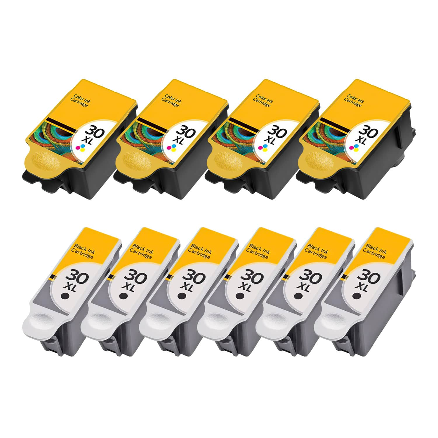 Compatible Kodak 30XL Inkjet High Capacity Pack - 10 Cartridges