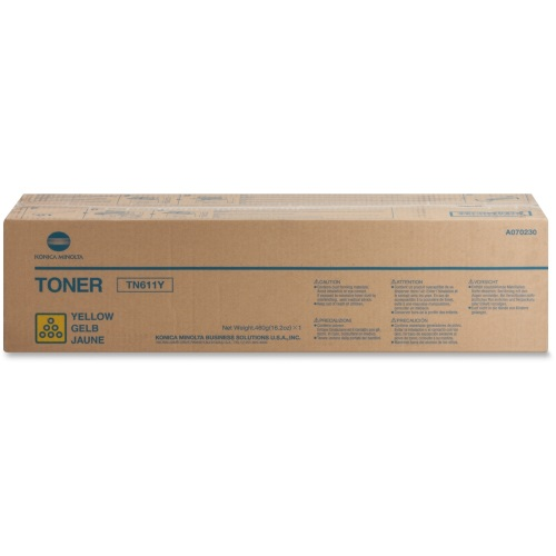 TN611Y Toner Cartridge - Konica-Minolta Genuine OEM (Yellow)