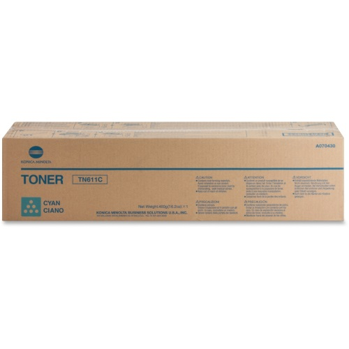 TN611C Toner Cartridge - Konica-Minolta Genuine OEM (Cyan)