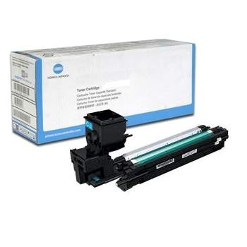 Genuine Konica-Minolta A0WG0HF Cyan Toner Cartridge