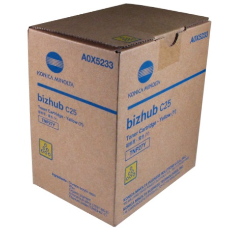 Genuine Konica-Minolta A0X5233 Yellow Toner Cartridge