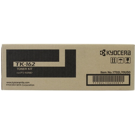 TK-162 Toner Cartridge - Kyocera Mita Genuine OEM (Black)