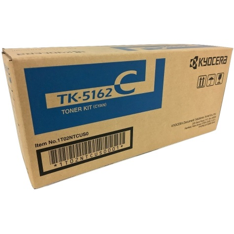 TK-5162C Toner Cartridge - Kyocera Mita Genuine OEM (Cyan)