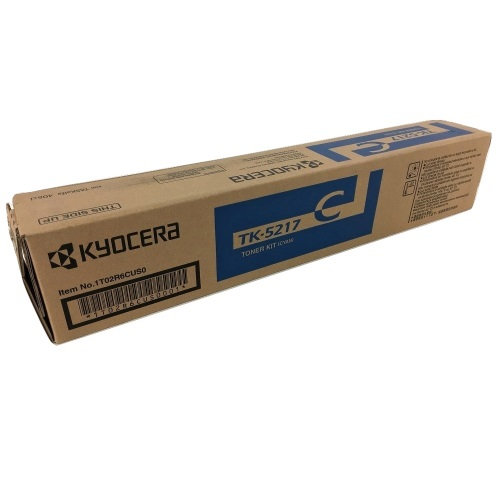 TK-5217C Toner Cartridge - Kyocera Mita Genuine OEM (Cyan)
