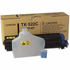 TK-522C Toner Cartridge - Kyocera Mita Genuine OEM (Cyan)