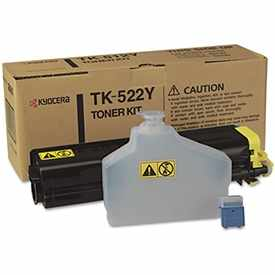TK-522Y Toner Cartridge - Kyocera Mita Genuine OEM (Yellow)