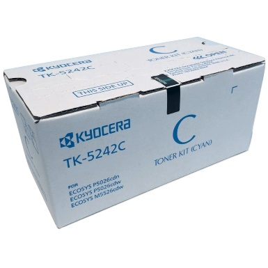 TK-5242C Toner Cartridge - Kyocera Mita Genuine OEM (Cyan)