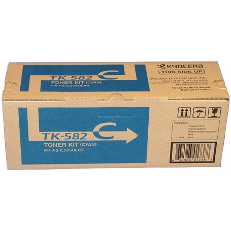 TK-582C Toner Cartridge - Kyocera Mita Genuine OEM (Cyan)