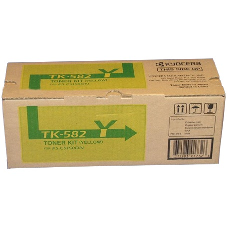 TK-582Y Toner Cartridge - Kyocera Mita Genuine OEM (Yellow)