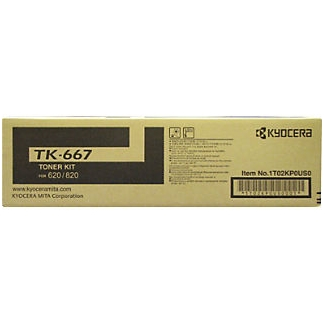 TK-667 Toner Cartridge - Kyocera Mita Genuine OEM (Black)