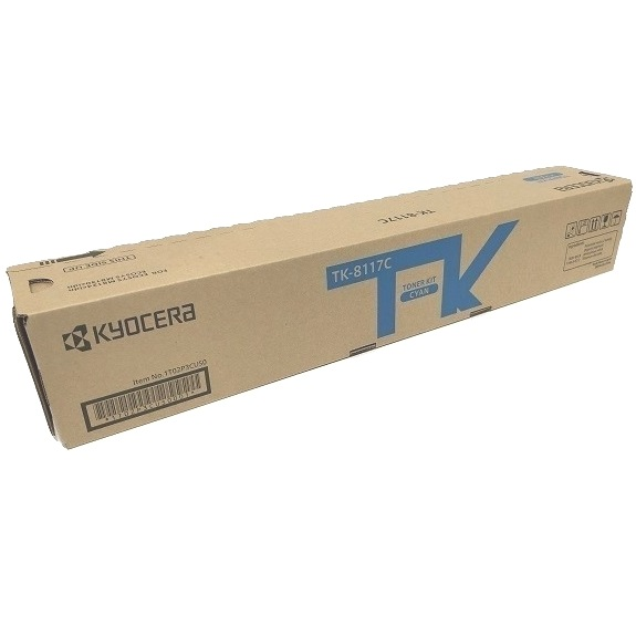 TK-8117C Toner Cartridge - Kyocera Mita Genuine OEM (Cyan)