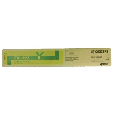 TK-897Y Toner Cartridge - Kyocera Mita Genuine OEM (Yellow)