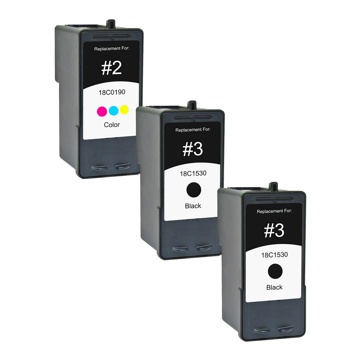 Remanufactured Lexmark 2-3 Inkjet Pack - 3 Cartridges
