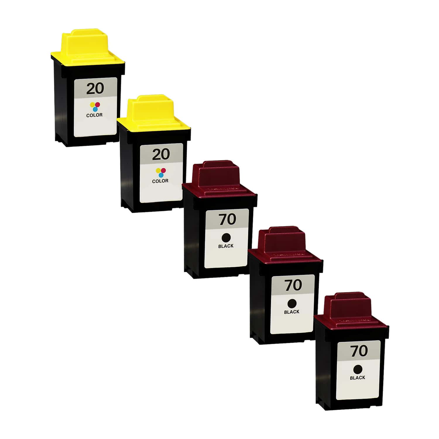 Remanufactured Lexmark 20-70 Inkjet Pack - 5 Cartridges