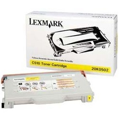 Genuine Lexmark 20K0502 Yellow Toner Cartridge