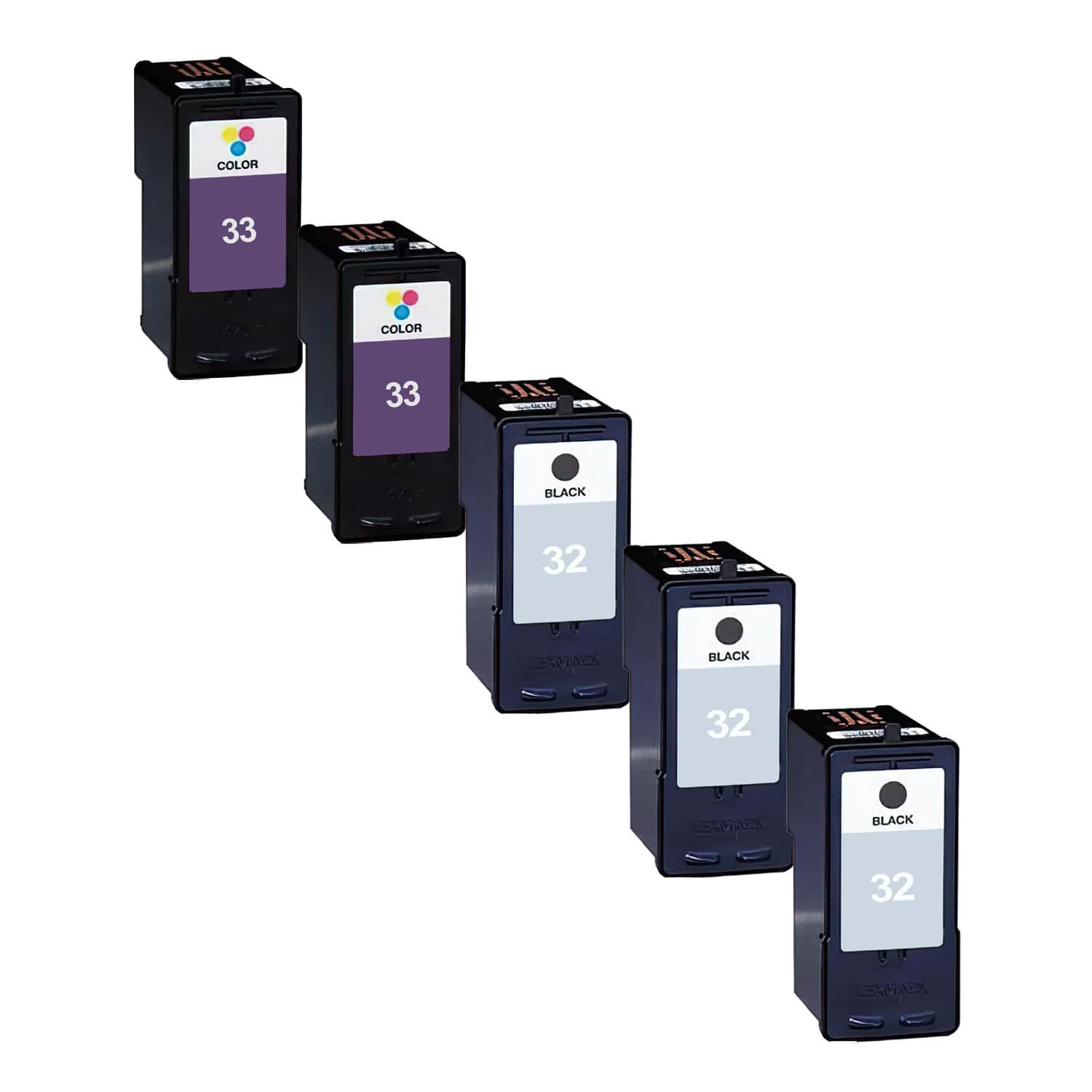 Remanufactured Lexmark 33-32 Inkjet Pack - 5 Cartridges
