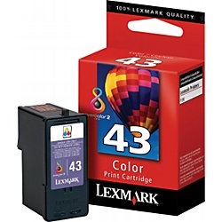 Lexmark #43XL Ink Cartridge - Lexmark Genuine OEM (Color)