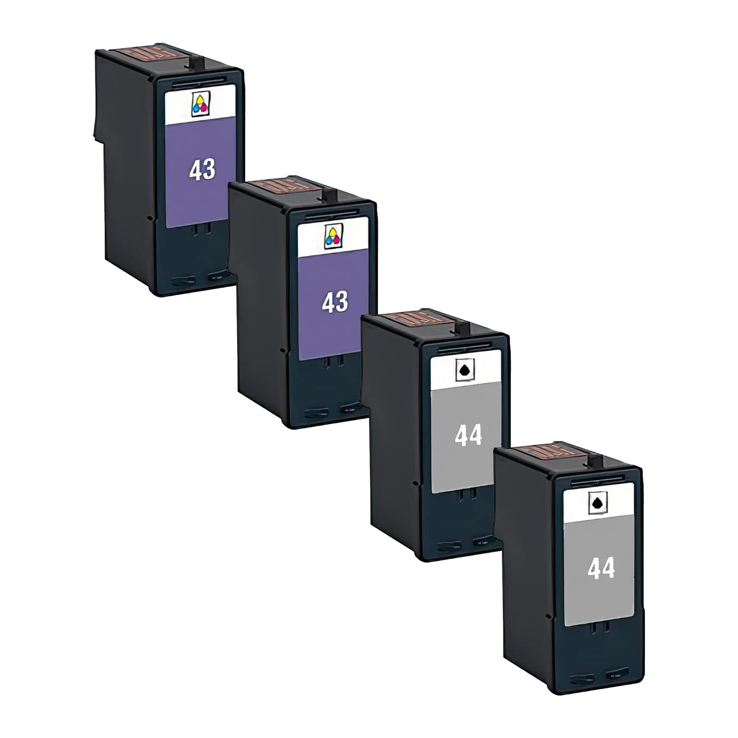Remanufactured Lexmark 43XL-44XL Inkjet High Capacity Pack - 4 Cartridges