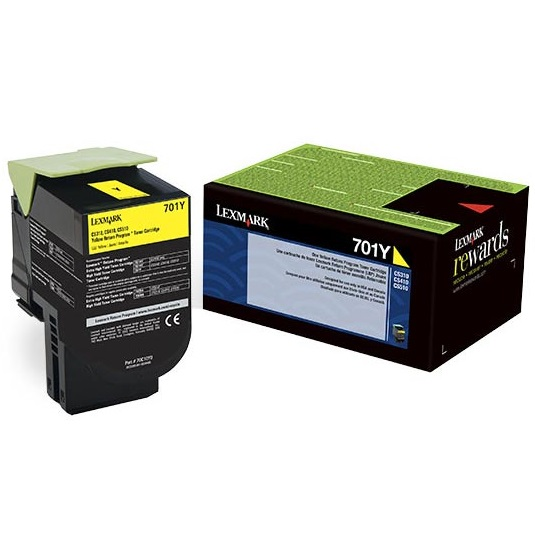70C10Y0 Toner Cartridge - Lexmark Genuine OEM (Yellow)