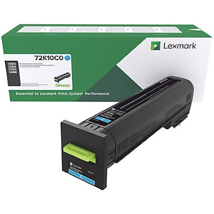 72K10C0 Toner Cartridge - Lexmark Genuine OEM (Cyan)