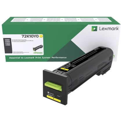 72K10Y0 Toner Cartridge - Lexmark Genuine OEM (Yellow)