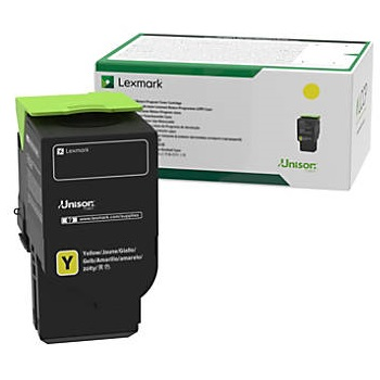 78C10Y0 Toner Cartridge - Lexmark Genuine OEM (Yellow)