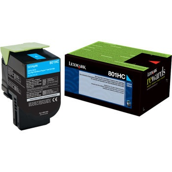 80C1HC0 Toner Cartridge - Lexmark Genuine OEM (Cyan)