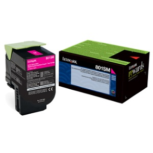 80C1SM0 Toner Cartridge - Lexmark Genuine OEM (Magenta)