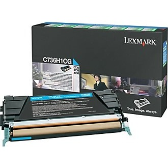 C736H1CG Toner Cartridge - Lexmark Genuine OEM (Cyan)
