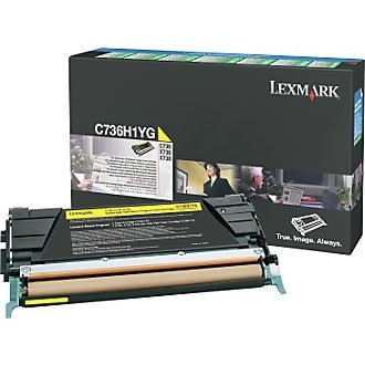 C736H1YG Toner Cartridge - Lexmark Genuine OEM (Yellow)