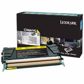 C746A1YG Toner Cartridge - Lexmark Genuine OEM (Yellow)