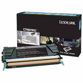 C746H1KG Toner Cartridge - Lexmark Genuine OEM (Black)