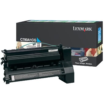 C780A1CG Toner Cartridge - Lexmark Genuine OEM (Cyan)