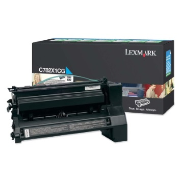 C782X1CG Toner Cartridge - Lexmark Genuine OEM (Cyan)