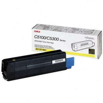 42127401 Toner Cartridge - Okidata Genuine OEM (Yellow)