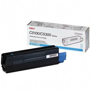 42127403 Toner Cartridge - Okidata Genuine OEM (Cyan)