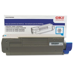 Genuine Okidata 43837127 Cyan Toner Cartridge