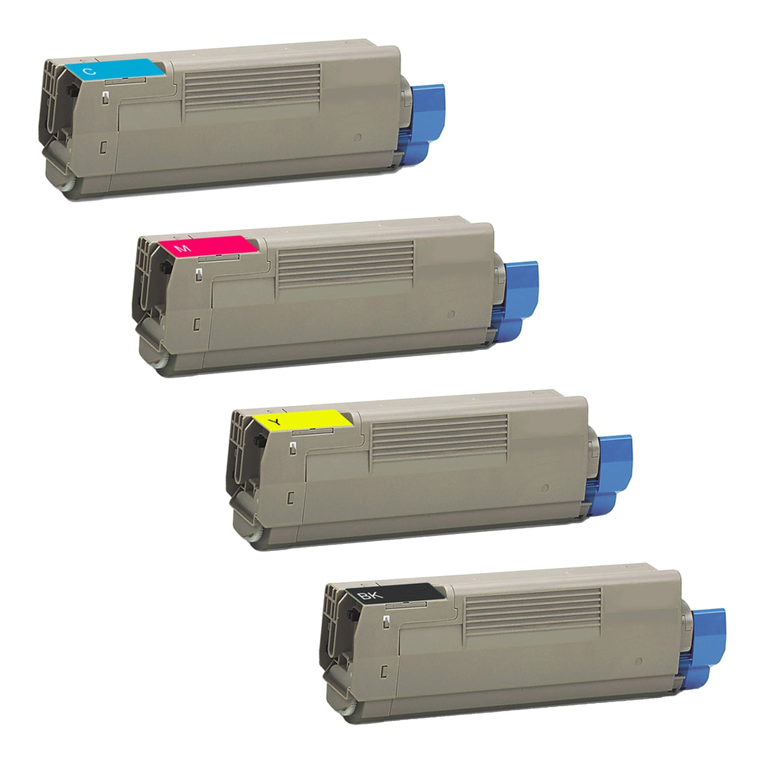 Remanufactured Okidata Toner CartridgeBundlepack C3100-C3200 CMYK High Capacity Pack - 4 Cartridges