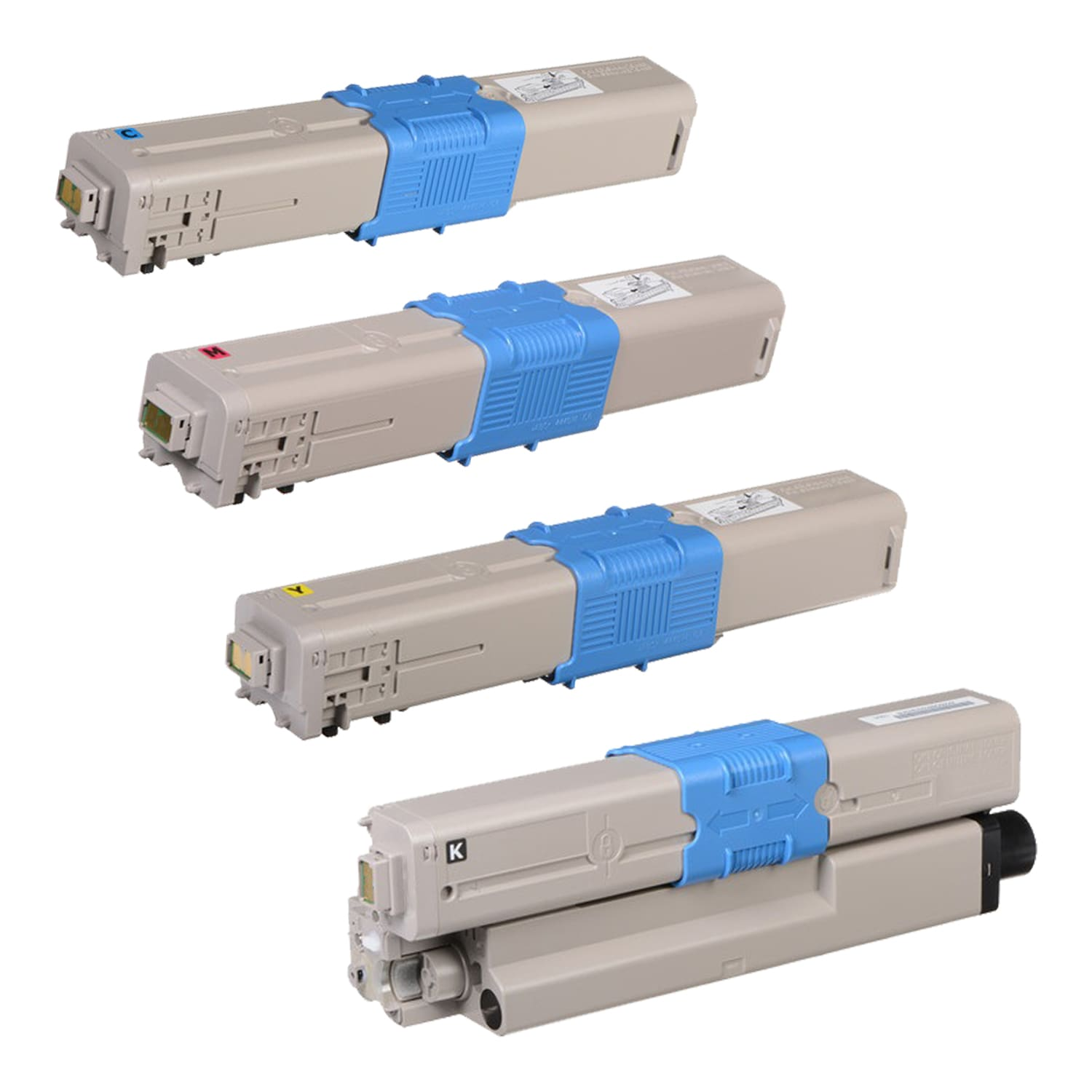 Remanufactured Okidata C330 Toner Pack - 4 Cartridges
