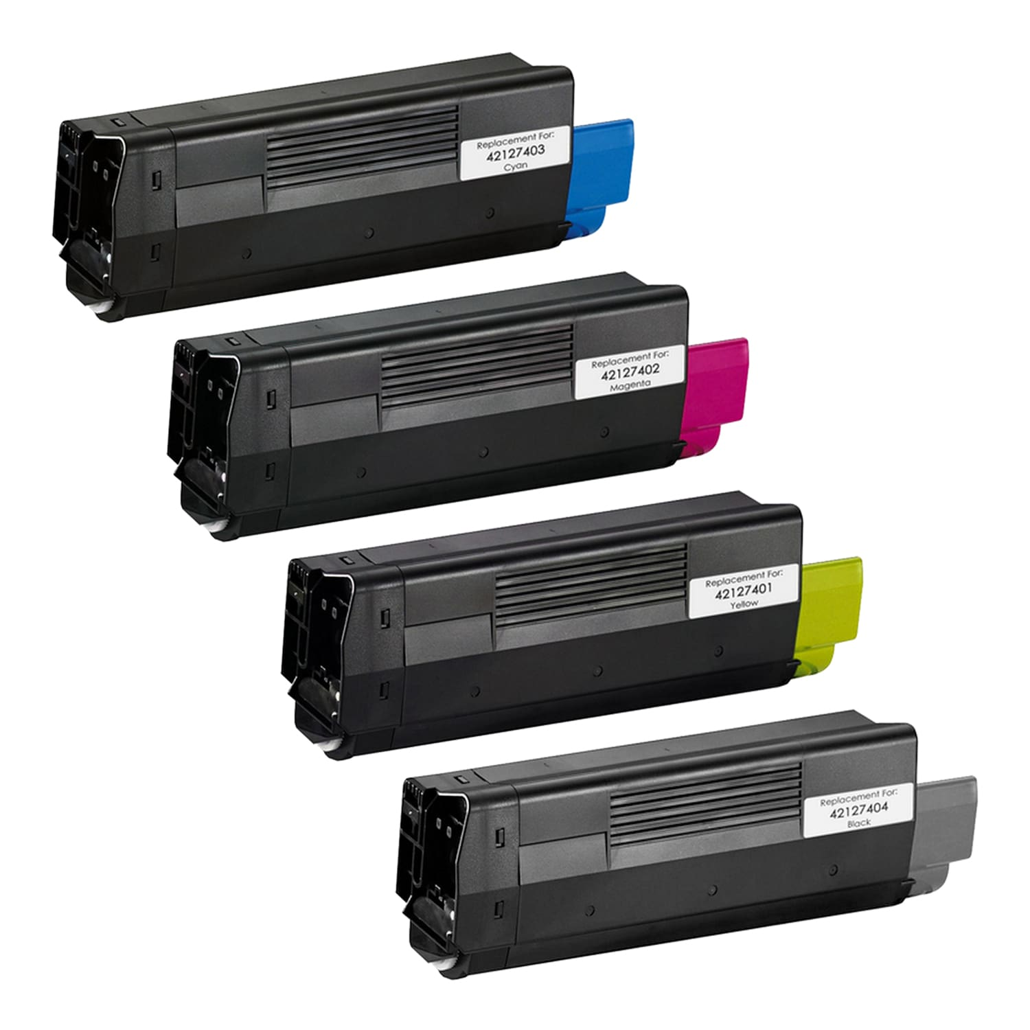 Remanufactured Okidata C5100 Toner High Capacity Pack - 4 Cartridges