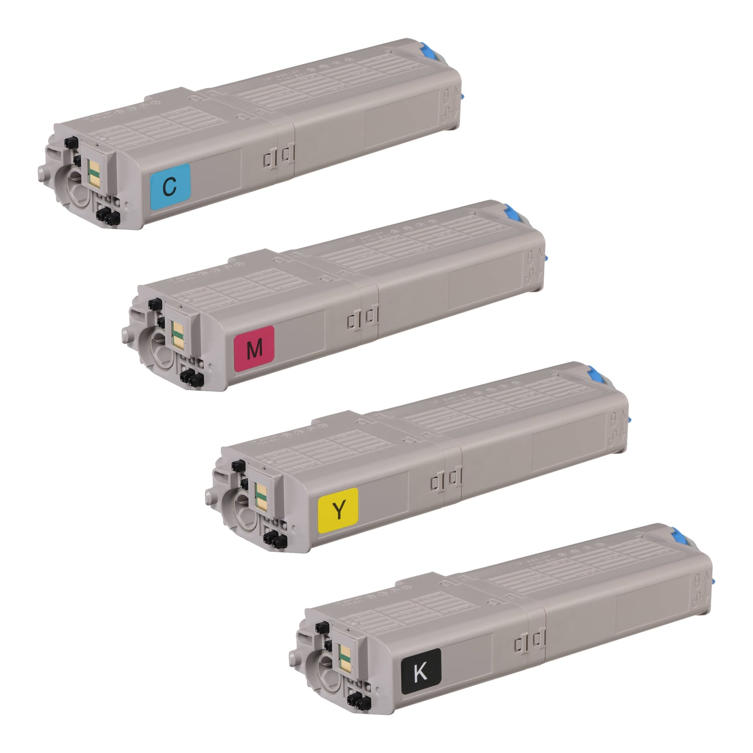 Compatible Okidata C532dn-MC573dn Toner High Capacity Pack - 4 Cartridges