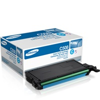 CLT-C508S Toner Cartridge - Samsung Genuine OEM (Cyan)