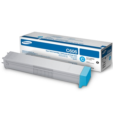 CLT-C606S Toner Cartridge - Samsung Genuine OEM (Cyan)