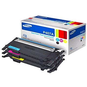 CLT-P407A Toner Cartridge - Samsung Genuine OEM (Bundle Pack)